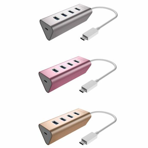 USB 3.0ハブアダプタ USB-C メス 充電ポートPD付き