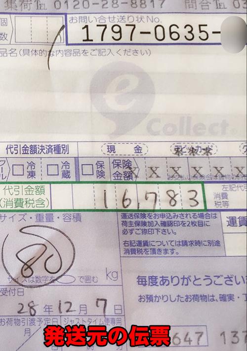 発送元の伝票