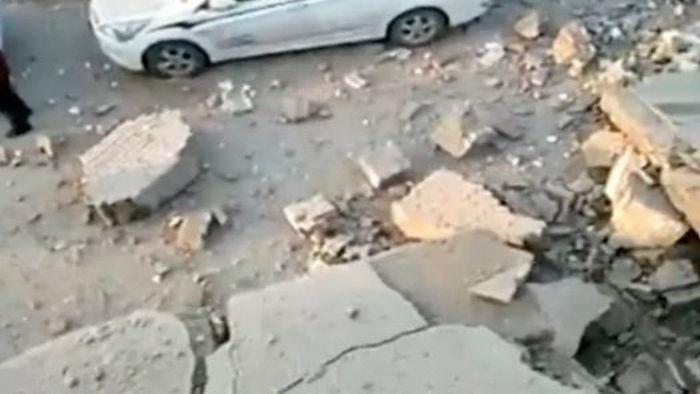 中国の公衆トイレが大爆発