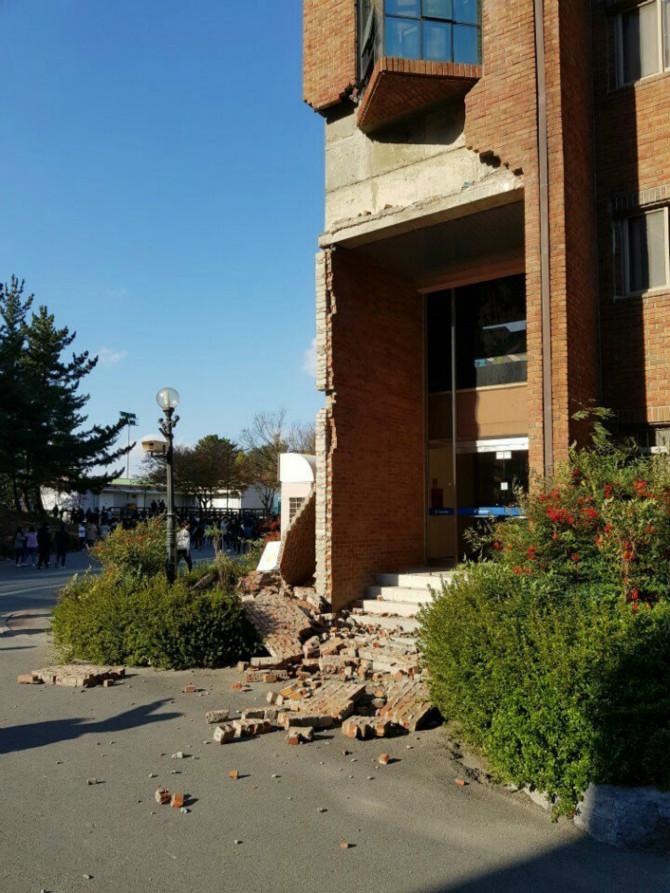 韓国の地震
