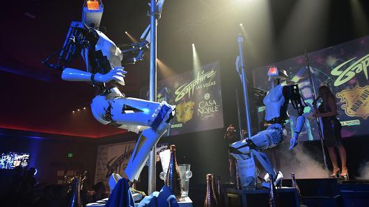 ポールダンスロボット