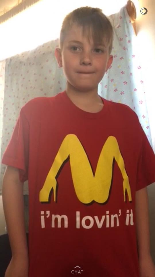 マクドナルド偽物シャツ