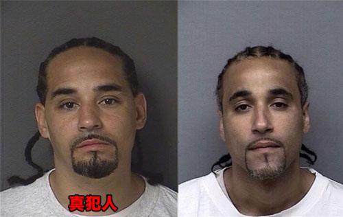 左:真犯人、右:無罪の男性