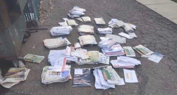 破棄された投票用紙